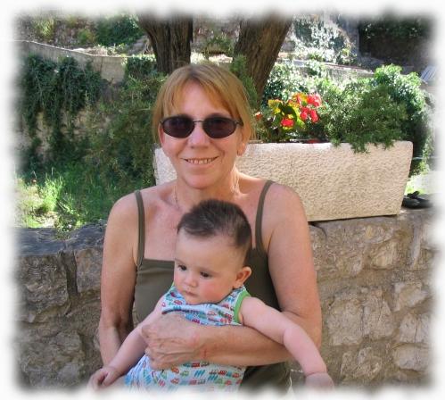 à St Guilhem avec Christine