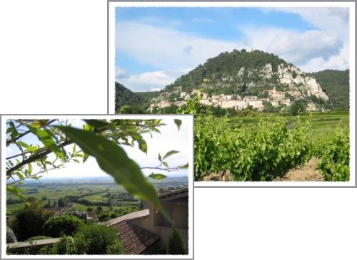 vue de Seguret et vue depuis le haut du village